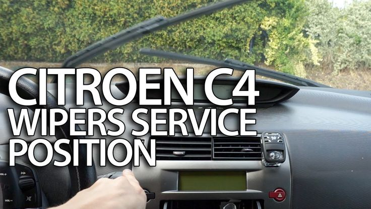 How to set #wipers to #service position #Citroen #C4 (replace windscreen wiper blades) #cars