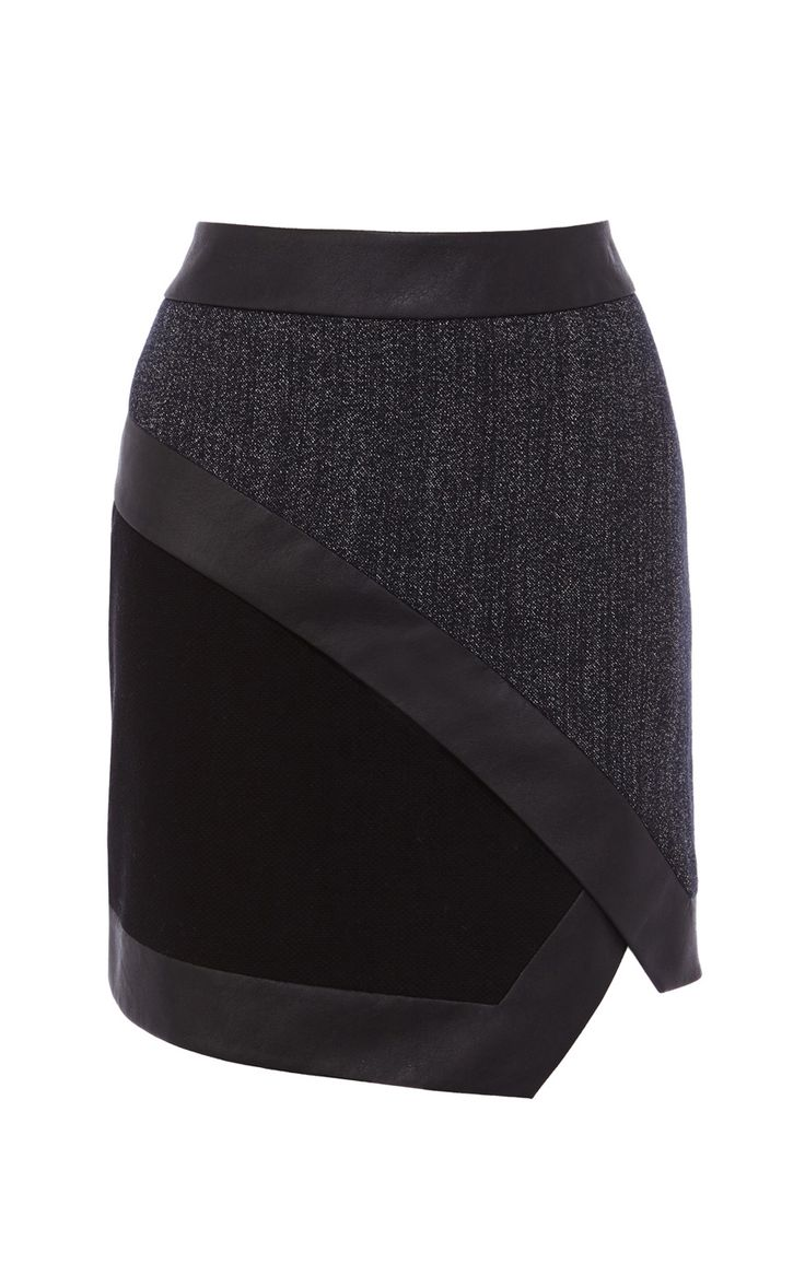 Indigo textured skirt | Luxury Women's xmlfeed | Karen Millen