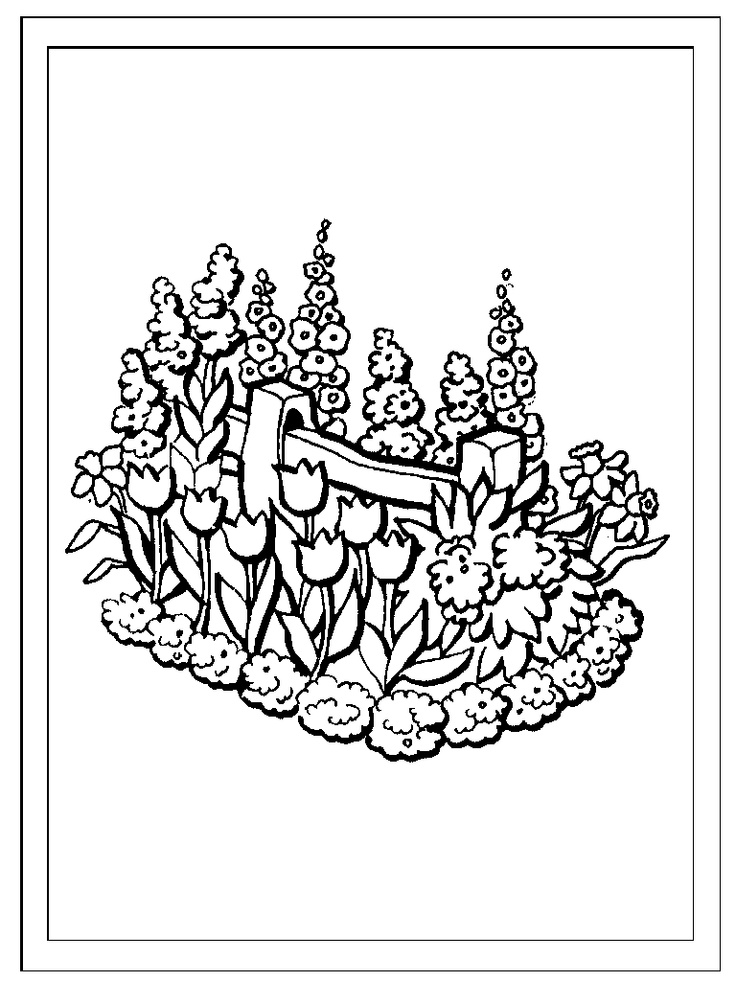 garden coloring pages preschool - photo#17