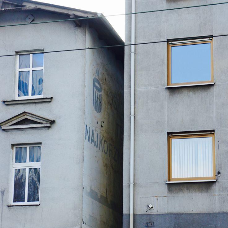 stara schowana reklama PKO - ul.Dąbrowskiego
