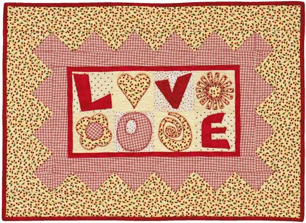 """L O V E"" from ""Fresh and Fabulous Quilts"""