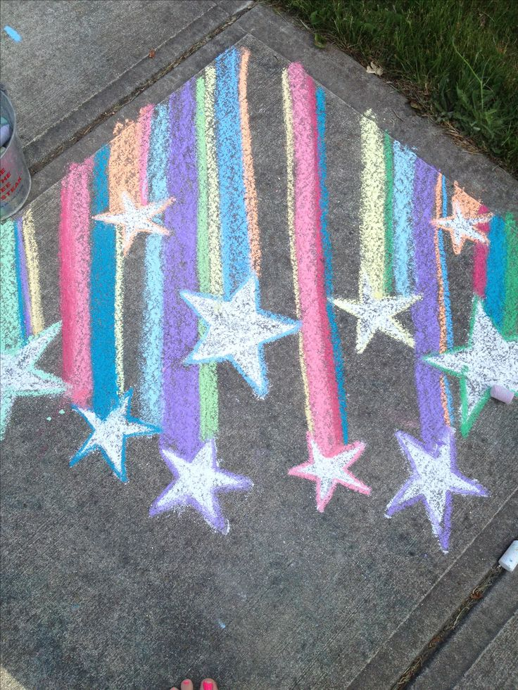 Sidewalk Chalk... Shooting Stars
