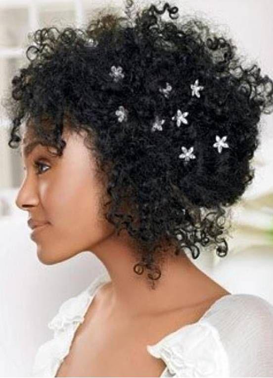 cabelos crespos / aplicação mini flores