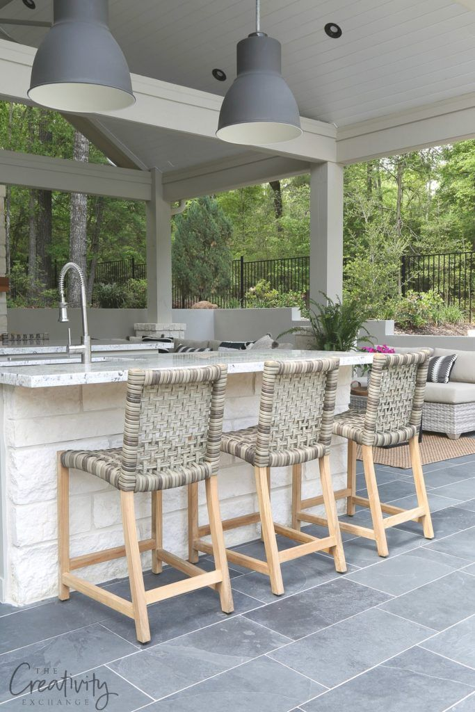 Outdoor Kitchen and Pool House Project Reveal