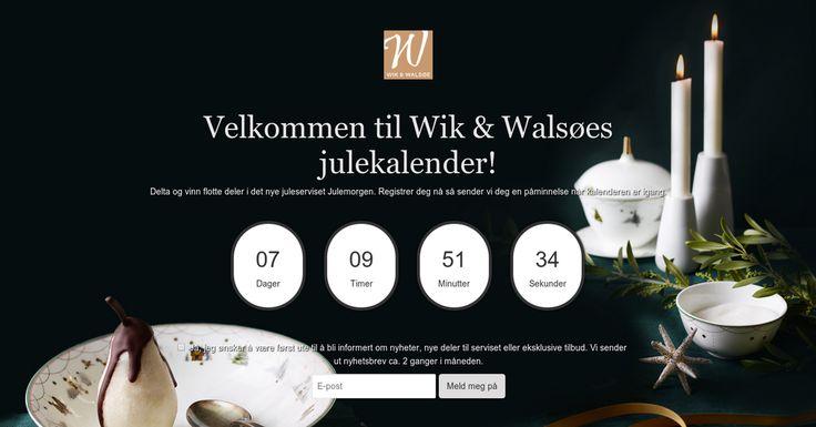 Wik & Walsøes Julekalender Delta og vinn deler av det nye juleserviset Julemorgen.