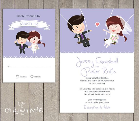 Funny Wedding Invite: 23 Best Cartoon Cards Images On Pinterest