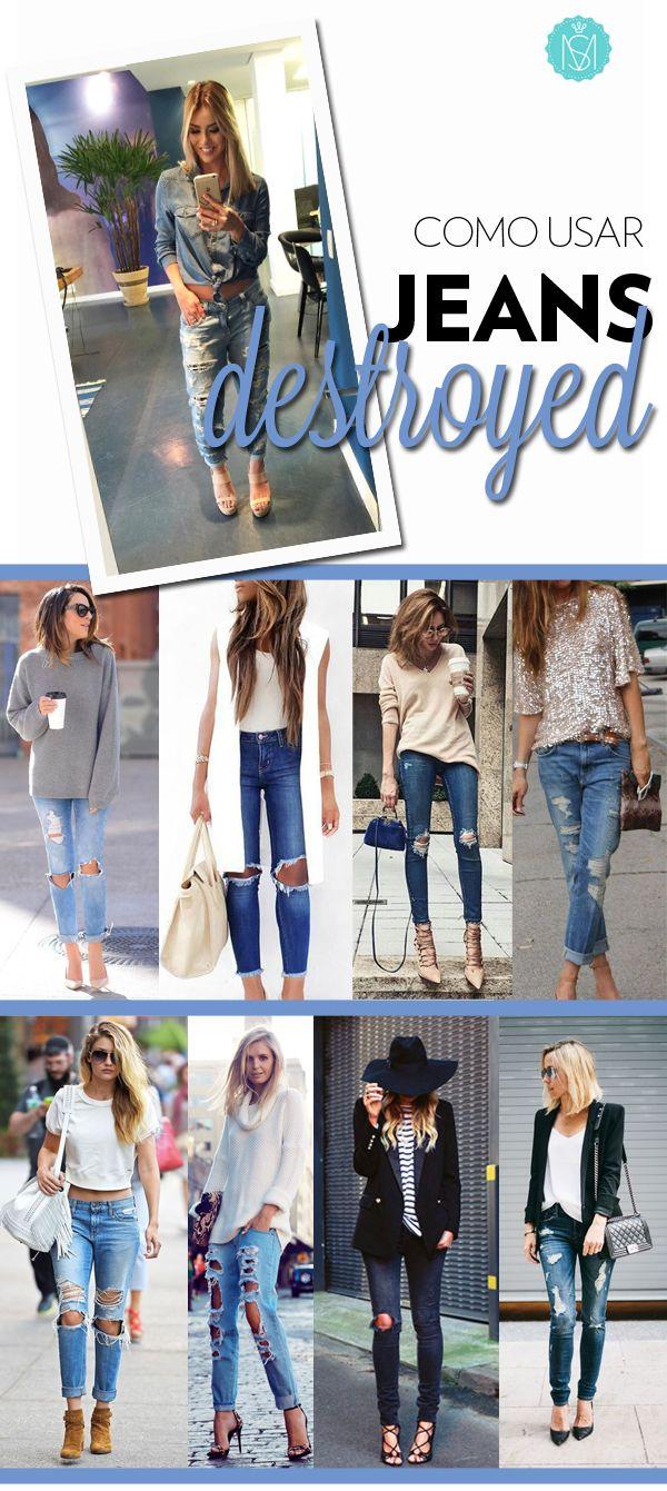 Oi #Time!  Quem aí gosta do bom e velho #jeans! Se a versão#skinny está começando a dar uma trégua no guarda-roupa, o modelito #boyfried, melhor ainda se for bem #destroyed, está tomando con...