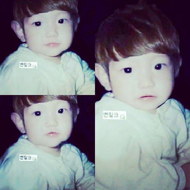Baby Baekhyun <3 So cute <3 I want to pinch his cheeks <3 Saranghae <3