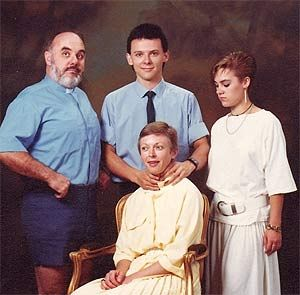 alright, everybody look anywhere you want. we want to capture your individual essence. billy, make sure you got a good grip on charlene's neck.