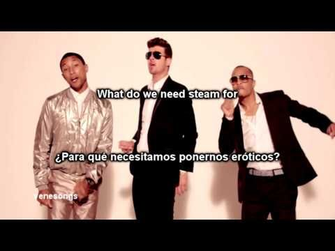 Robin Thicke - Blurred Lines ft. T.I., Pharrell (Letra Español-Inglés) - ExssBox - Music - Видео Каталог