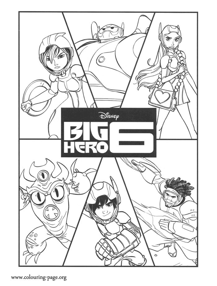 Have Fun Coloring This Amazing Disney Big Hero 6 Page Here Are The Characters