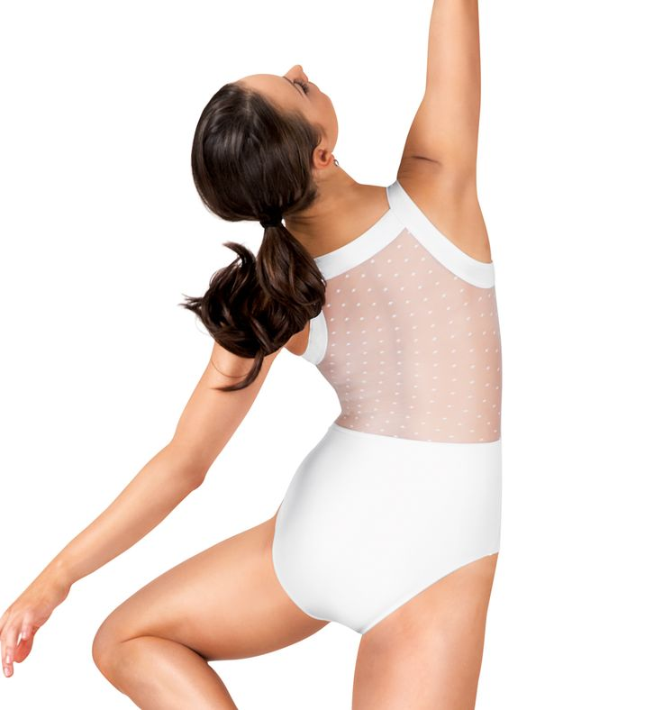 Adult Dot Mesh Tank Leotard - Style Number: NC8820 #discountdance #ballet #leotard