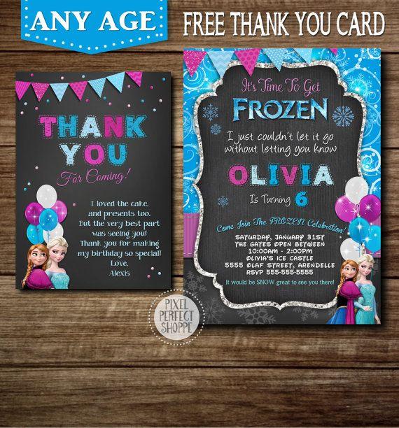 Frozen Birthday Invitation Frozen Birthday por PixelPerfectShoppe