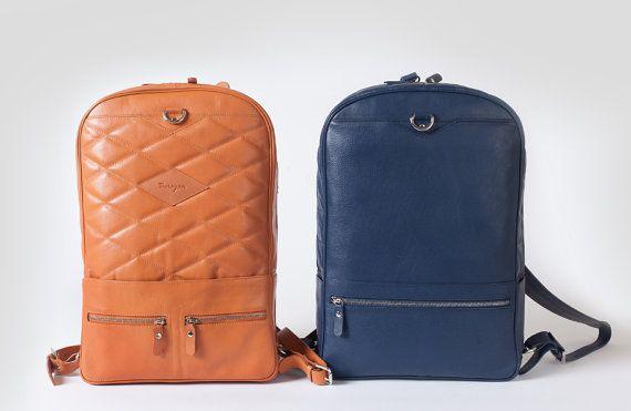 Leather backpack men / laptop backpack / macbook backpack / 17 inch macbook backpack / leather rucksack / everyday backpack / convertible bag /