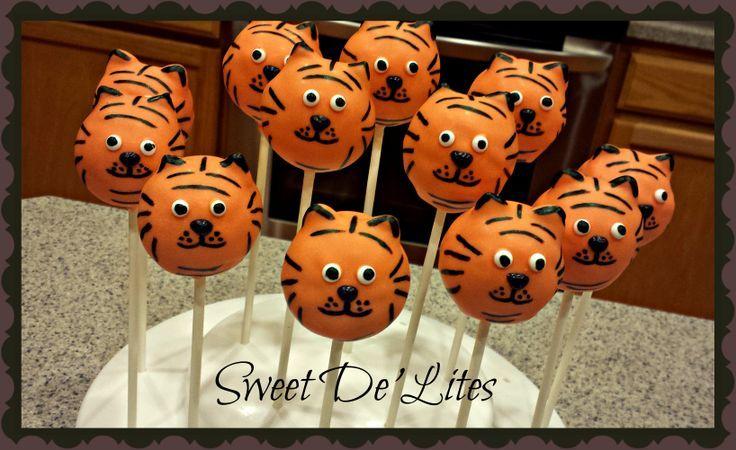 tiger Cake Pops | Tiger Cake Pops | Sweet De'Lites | Pinterest