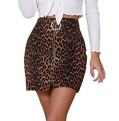 Epingle Sur Jupes Leopard