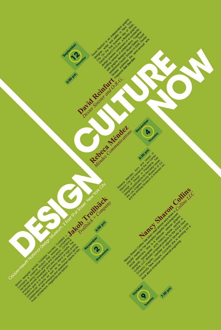 Design Culture Now Poster | CHEE Art/Design/Photography