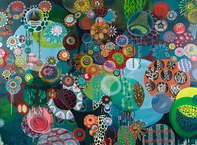 Not collage -- OIL! Love!!   Artist is Melinda Hackett http://www.melindahackett.com/