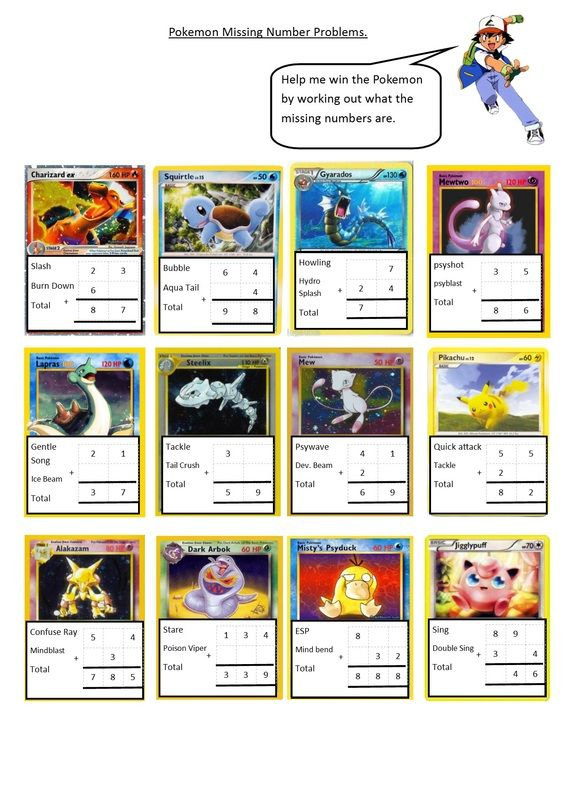Pokemon missing numbers (editable)