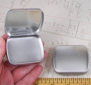 Small Hinged Tins
