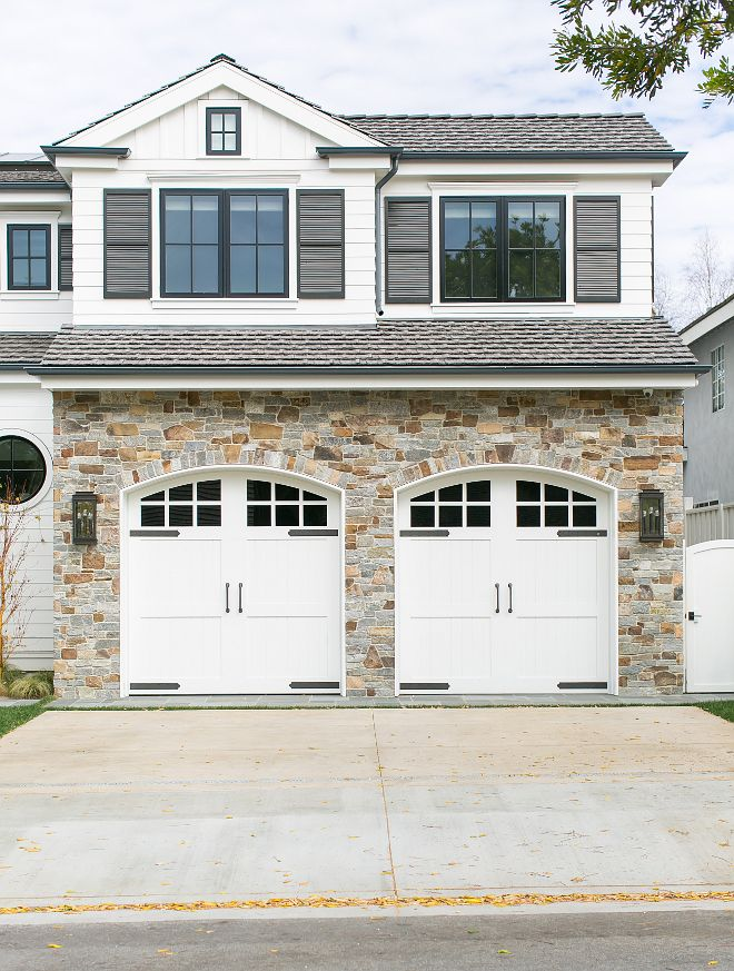 217 best images about garages and driveways on pinterest for Stone garage designs