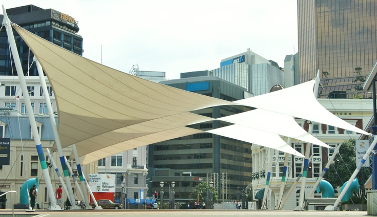 Sails on Queen Wharf, Wellington, New Zealand