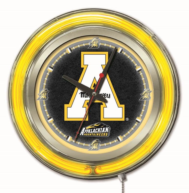 "Clock 15"" Dia. - Appalachian State University Mountaineers"