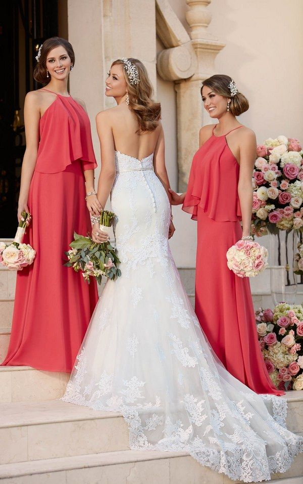 Stella York Fit and Flare Wedding Dress and Boho Bridesmaid Dresses style 6272 c / http://www.deerpearlflowers.com/sorella-vita-bridesmaid-dresses/3/