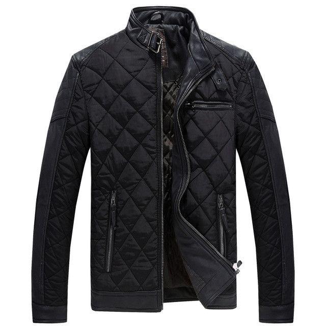 Men Winter Parkas Waterproof Fabric Men's Cotton-Padded Jacket Warm Slim Outerwear Coat Parka