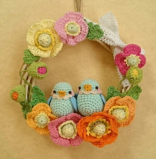 123 besten crochet wreath bilder auf pinterest kranz h keln weihnachten und urlaub h keln. Black Bedroom Furniture Sets. Home Design Ideas