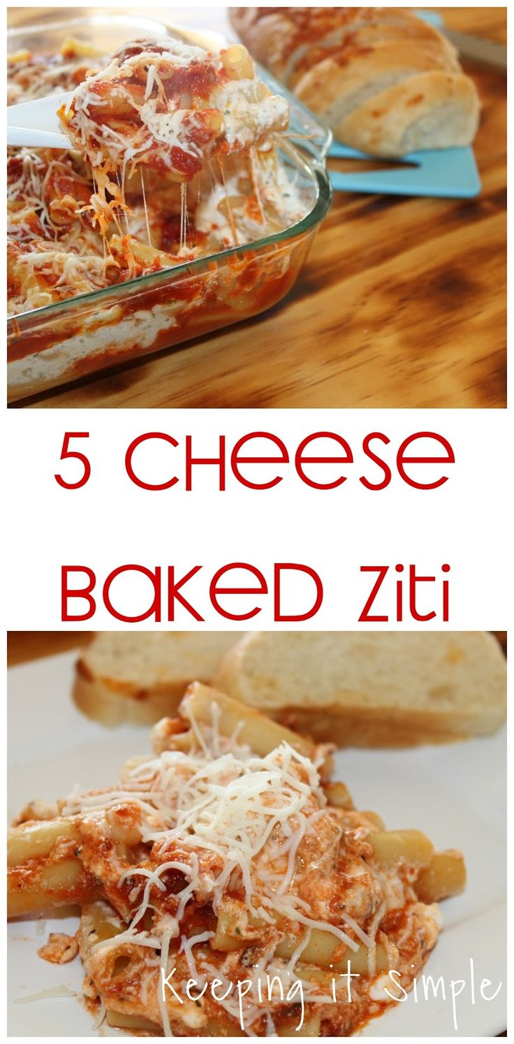 Keeping it Simple: 5 Cheese Baked Ziti Pasta Recipe with Homestyle Sauce