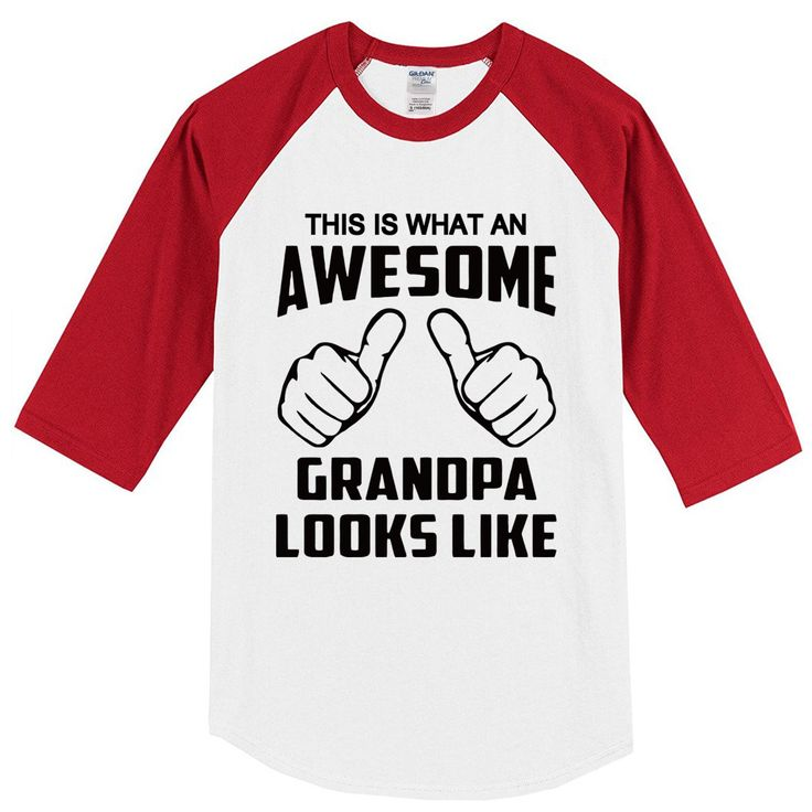 Summer 2017 T-shirt This Is What An Awesome Grandpa Looks Like funny crossfit men's T-shirts hip hop top raglan t shirt harajuku #Affiliate