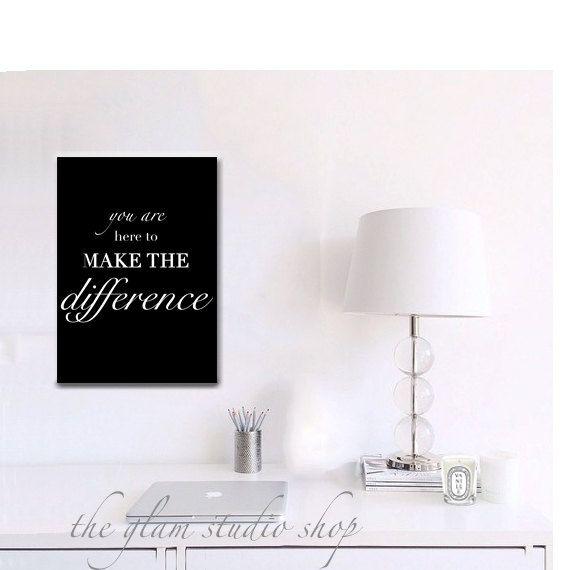 Motiverend Print meisje baas motiverend citaten door TheGlamStudio