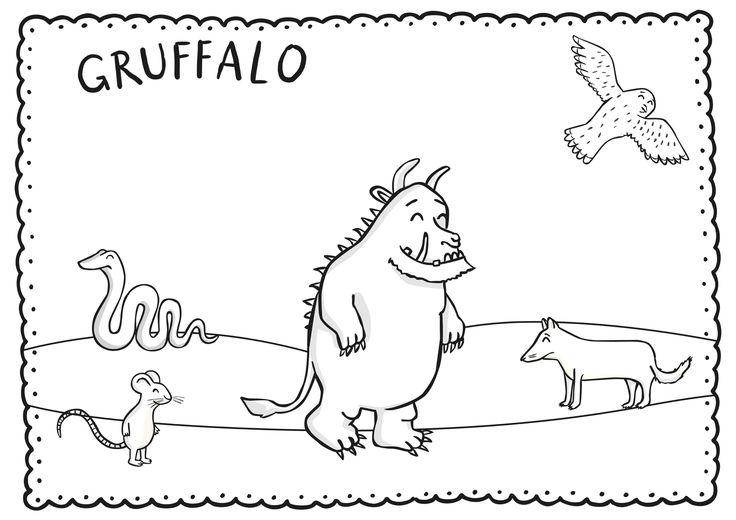 Kleurplaat: De Gruffalo