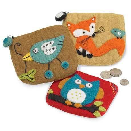 Felted Wool Coin Pouches