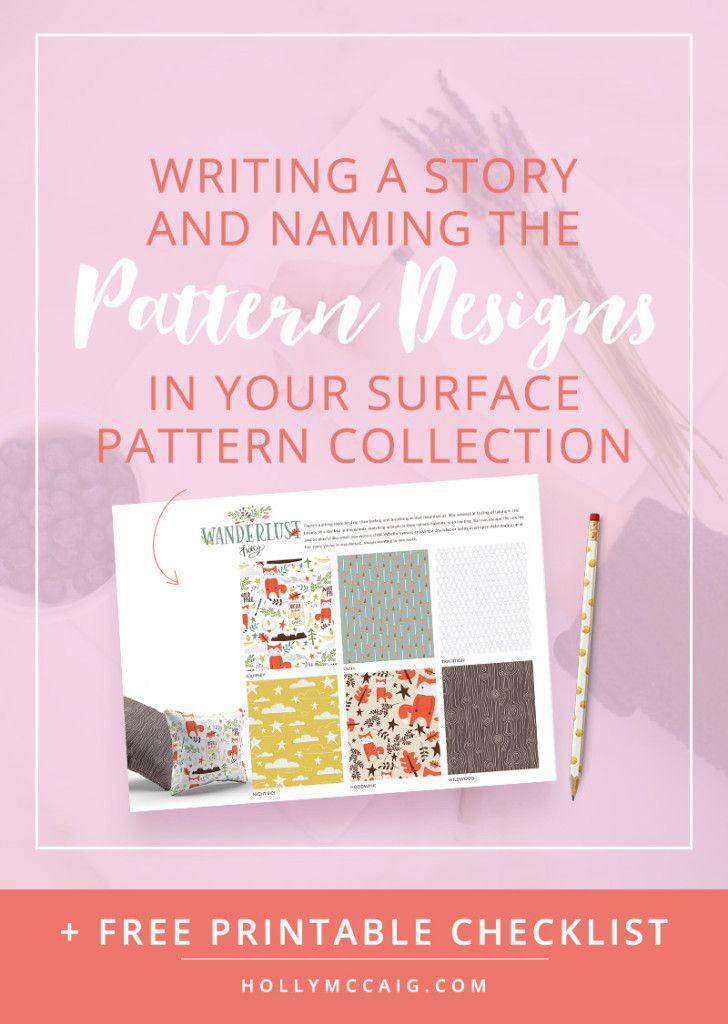 Writing a Story and Naming Patterns in Your Surface Pattern Collection