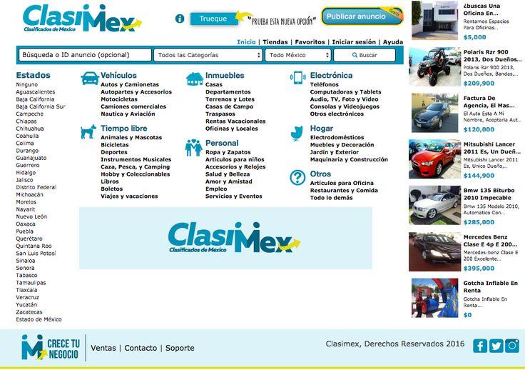 Es una página 100% Mexicana de anuncios clasificados, la cual tiene como objetivo facilitar la compra-venta en línea de productos nuevos y seminuevos de una forma fácil, rápida y gratuita