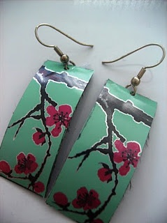 Turn pretty marketing designs into pretty things.  I've always thought these cans were pretty, as earrings - even better!