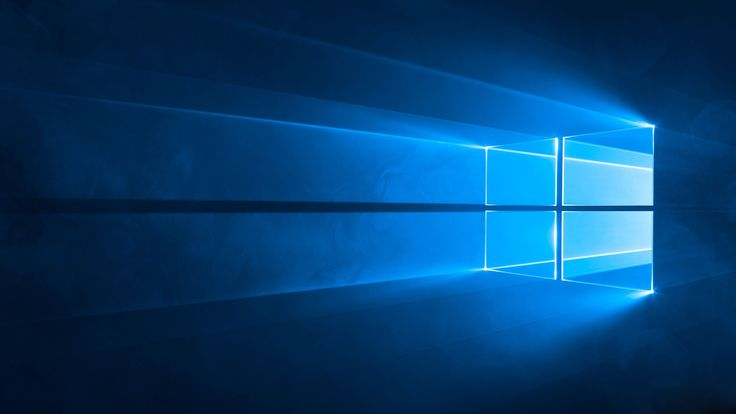 Windows 10 Blue Light Desktop Background 4K Wallpaper