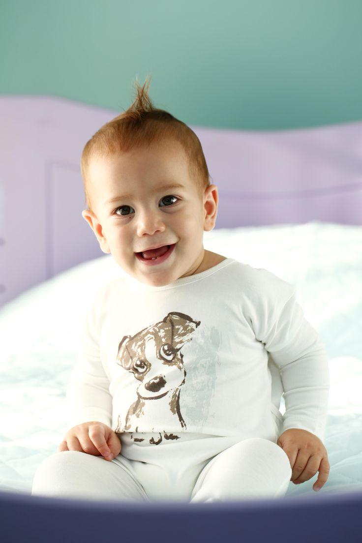 bunting for little boys / Erkek bebek patikli tulum