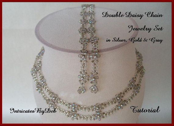 Tutorial Beaded Daisy Chain Necklace and von IntricatesByDeb