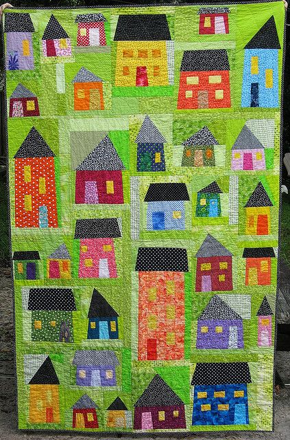 Another Cute And Bright House Quilt Need To Find Tonya