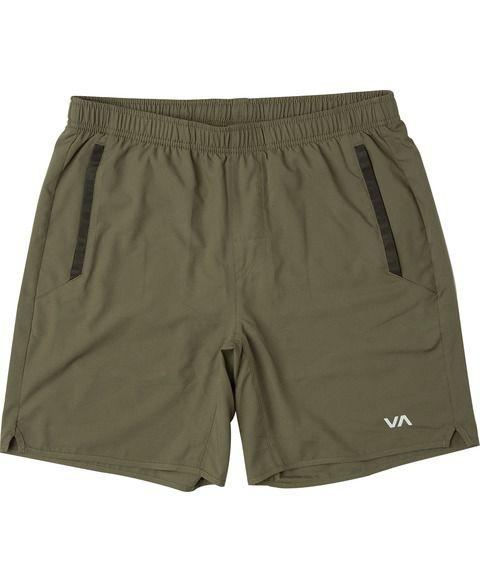 RVCA Yogger Athletic Shorts Olive New