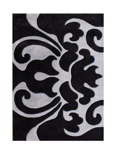 ZnZ Rugs Gallery 40070-8x10 Handmade New Zealand Blend Wool Rug, 8 by 10-Feet, Black by Alliyah Rugs, http://www.amazon.com/dp/B00CTLGLVA/ref=cm_sw_r_pi_dp_u4i4rb1PYZSNW