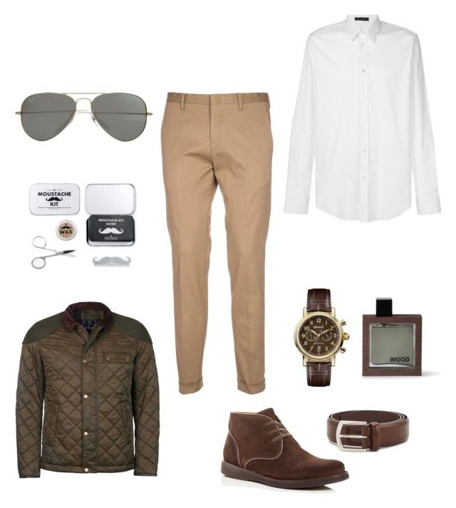 """""""Style For Him"""" by matinapapadopoulou on Polyvore featuring Paul Smith, Barbour, Versace, John Varvatos * U.S.A., Ingersoll, Dsquared2, Men's Society, J.W. Anderson, Parasol and men's fashion"""
