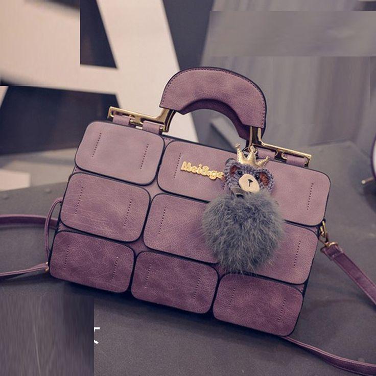 Ladies Designer Handbags Fashion 2016 Women's Shoulder Evening Bag Black Factory Fur Handbag Messenger Bag high quality