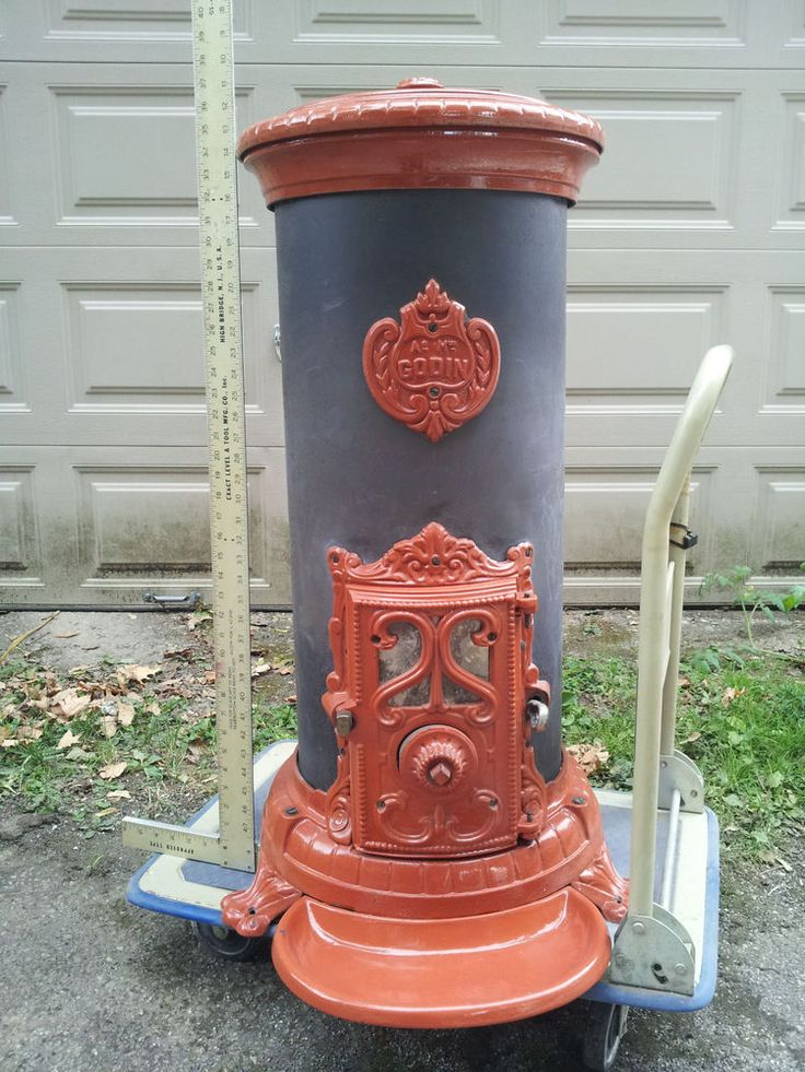 Godin Stove Heater Parlor Coal Wood Antique Cast iron Porcilain Red French - 1245 Best Old Wood Stoves Images On Pinterest Wood Stoves