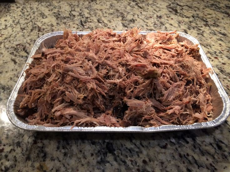 """Pulled Pork """"Smoked an 11.25 pound pork shoulder. 17 hours on 225°F until an internal temp of 200°F degrees."""" By Marc O. #pork #bbq #electricsmokers #gorgeous"""