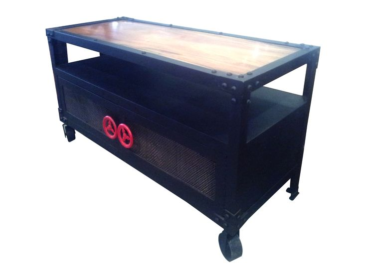 TV Console D - Metal. Industrial inspired TV Console.