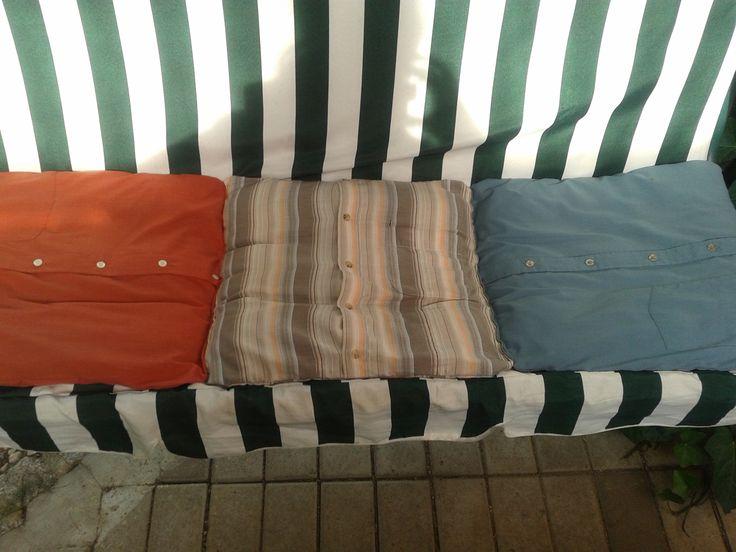 Das Ergebnis von drei Männerhemden....